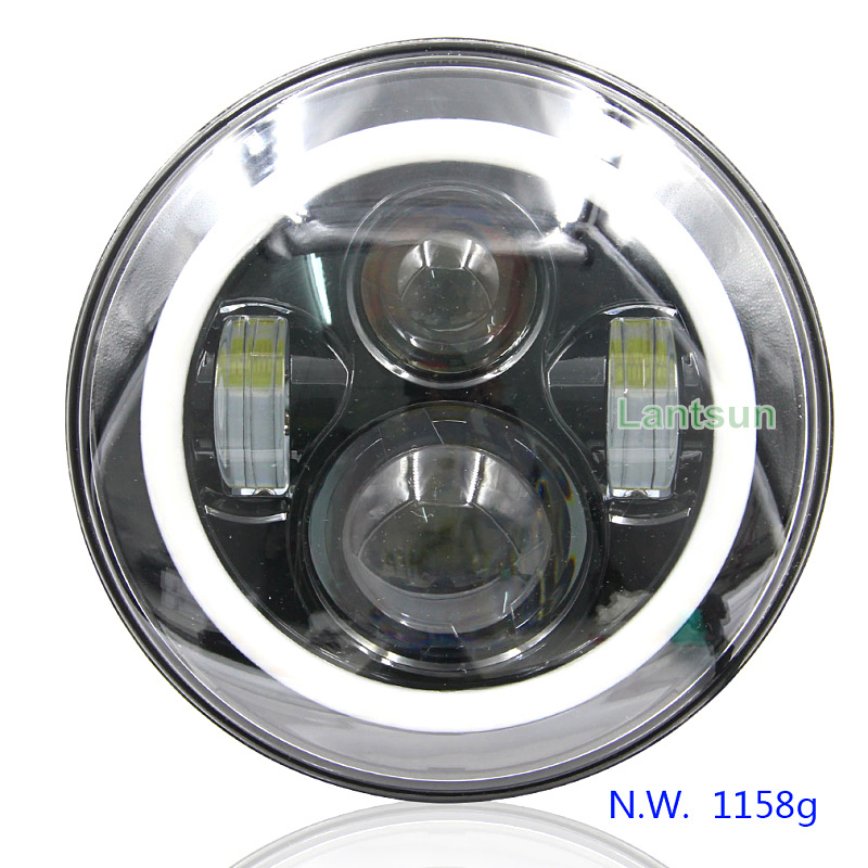 Hot selling IP68 wrangler headlight with white amber halo ring