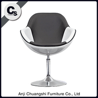 BIG SIZE UNADJUSTABLE SWIVEL BAR STOOL/CHAIRS IN UNIQUE EGG SHAPE