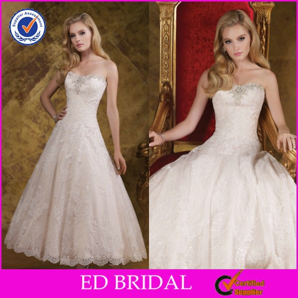 ED-YH2463 New Arrival Hot Sale Ankle-length Princess Style Lace Sexy Short Country Wedding Dresses