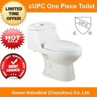 one piece toilet Cupc toilet sanitary ware bathroom ware cheap Elongated siphonic toilet