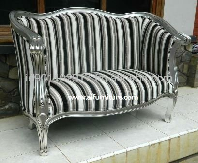 french furniture indonesia,antique furniture indonesia DOG 001 Silver leaf with van dijk-fabric 17