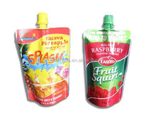 Stand Up Spout Pouch for juice / Beverage Plastic Packaging bag with Spout