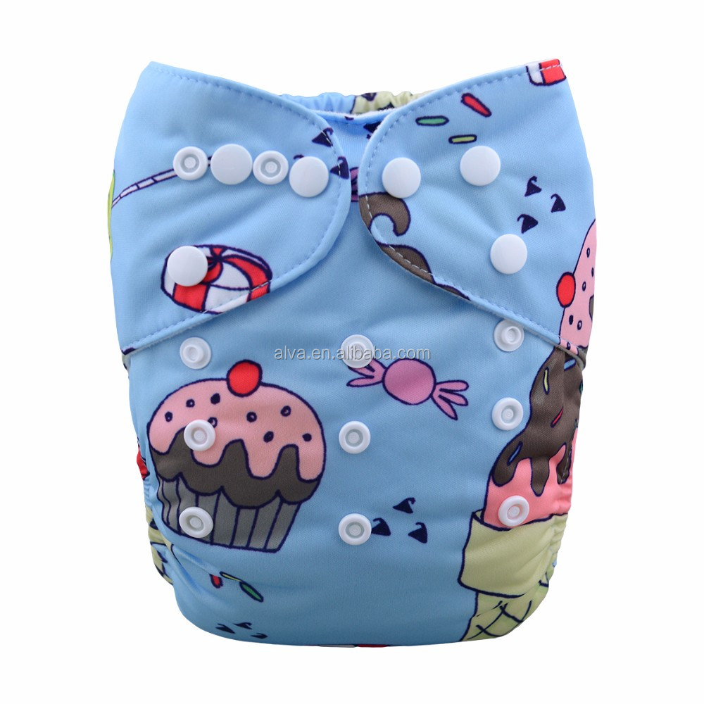 Alvababy New Design Dessert Baby Cloth Nappies Reusable Cloth Diapers