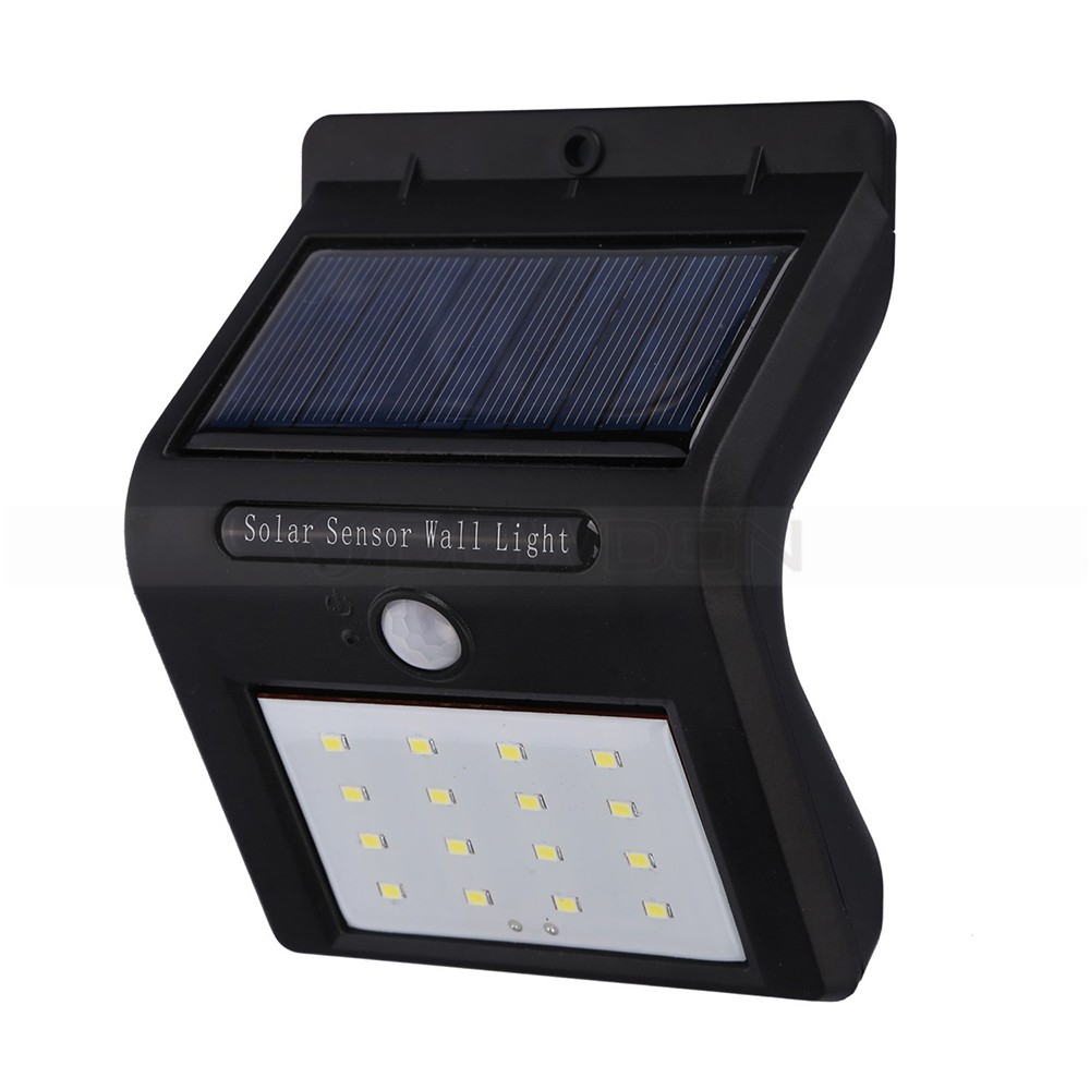 16 LEDs Motion Sensor Outdoor LED Solar Wall Lamps Portable Garden Lamp