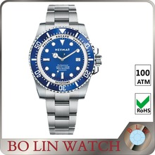 luxury fashion blue dial japan movement women sport stainless steel pimp watch