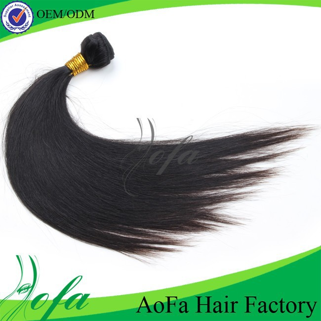 Grade AAAAAA virgin hair weave indian straight extension ,no tangle and no shedding