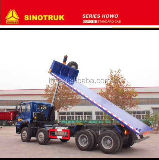 2017 new style sinotruk howo Flat Bed Dump truck 8*4 made in china