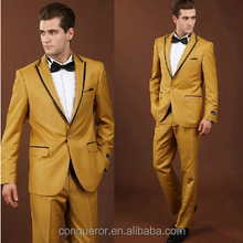 latest design fashion yellow tuxedo dress suits for men