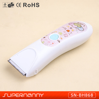 Intelligent Colorful design professional baby hair cutter SN-TC868 safety and waterproof children hair clipper