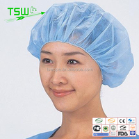 wholesales disposable nonwoven hair net for food industrry