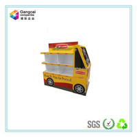 bus shapes paper display floor stand