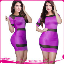 Hexin Sexy Purple Nice Bodycon Bandage Dress