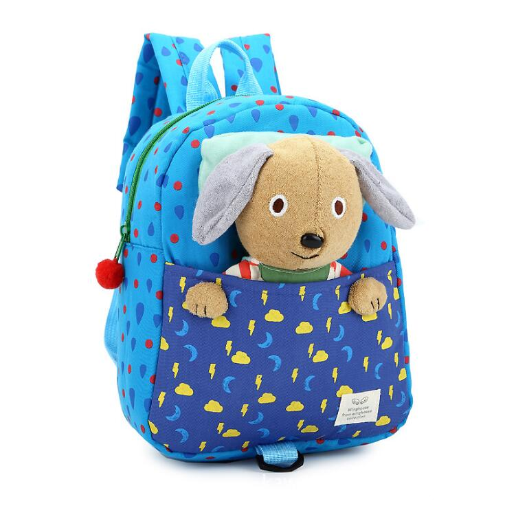 Baby Anti Lost Safe Harness Detachable Sheep Toy Printing Blotches Toddler School Book Bag With Rein
