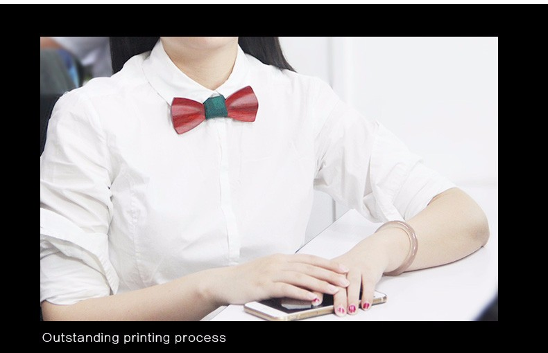Wholesale The Stylish Handmade Fashion Custom Zebra wood Wedding Gift Wooden Bow Tie