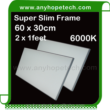 New design thickness 15mm 30 60cm 24w indoor flexible led panel
