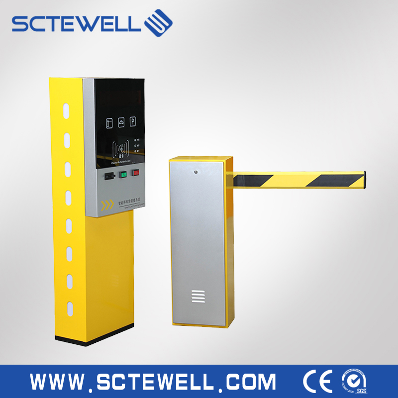 smart car parking system riid parking lot management system with ticket machine and barriers