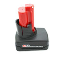 12V 3Ah, 4Ah, 5Ah Li-ion Power Replacement Tool Battery for Milwaukee Cordless Drill 48-11-2440