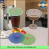 Merry Christmas gift premium silicone round shape flexible cute cup lids