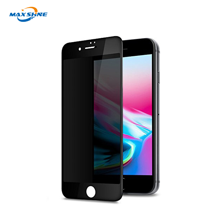 Cell Phone Accessory 2.5D 9H Privacy Screen Protector for iPhone 8 Privacy Tempered Glass
