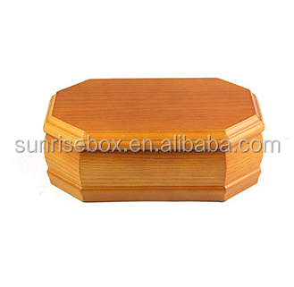 Eight angle wooden jewelery box, custom wooden jewelry packaging box, jewelry storage box wooden
