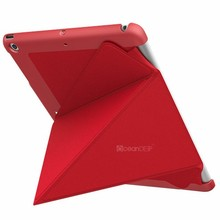 Flexible shape stand leather case for ipad air 16gb high quality tablet pc material case