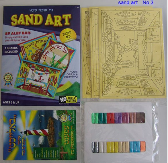 US Sand Picture, sand art set with different designs
