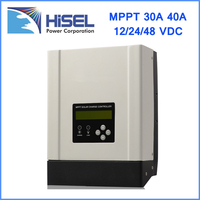 HiSEL China factory 20A 25A 30A 40A 50A 60A 80A 12V 24V 48V automatic recognition mppt solar charge controller
