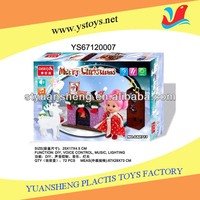 Battery Operated Christmas Decoration Toys W/Light&Music