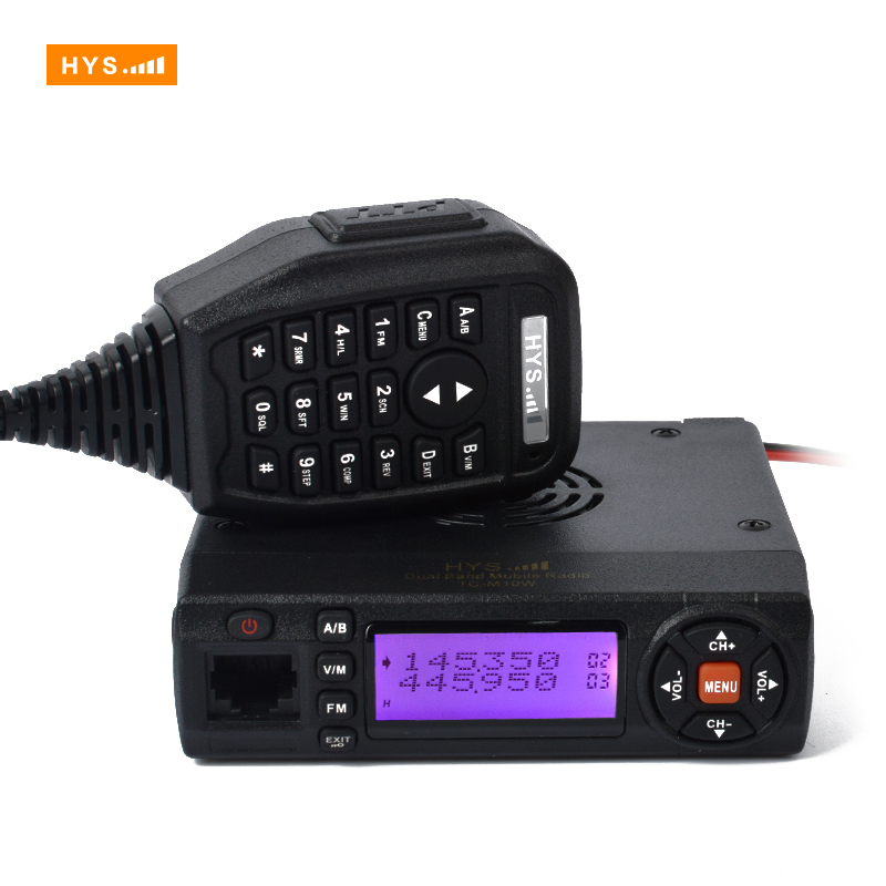 Mini 10w 2m 70cm VHF UHF Dual Band Mobile Radio Transceiver