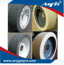 ANYGO brand AWP tires 12X4 with brake and without brake for Skyjack lift 3215/3219 ,