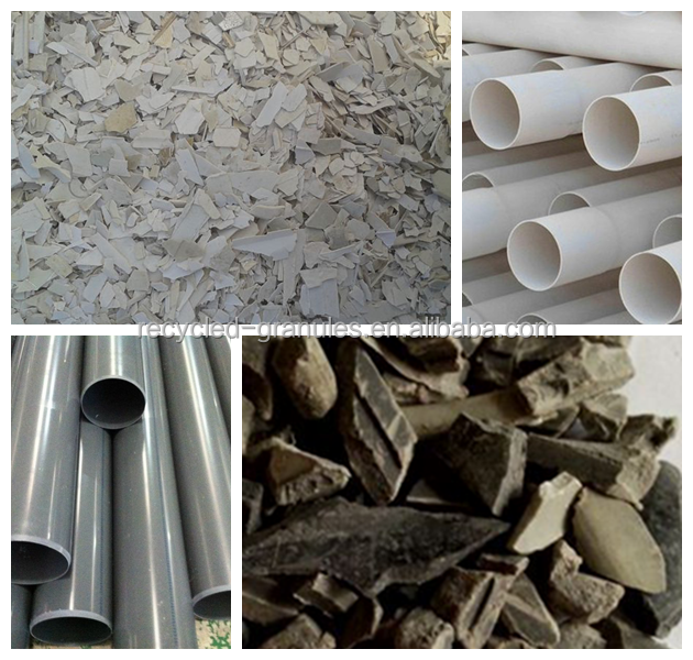 rigid plastic pipe profile regrind pvc scrap, clear PVC scrap, pvc window profile scrap