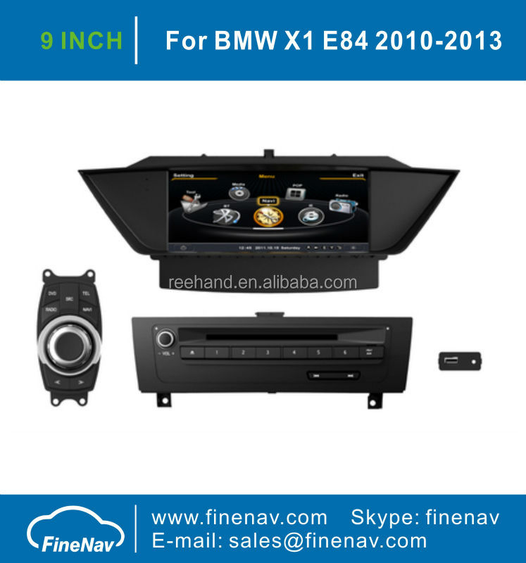 9inch Touch Screen Car Stereo GPS For BMW X1 With GPS Navigation 3G WIFI Bluetooth iPod A8 Chipset 1G CPU Free Map