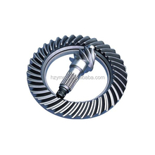 Long life hypoid gears with crown wheel pinion gear in gearbox