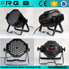 DJ DMX 512 54x3w RGBW 4in1 indoor LED par 64 can wash light