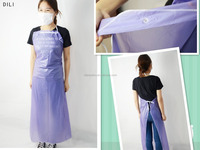 kitchen plastic aprons for adults/disposable plastic aprons pink/lcheap purple bib aprons