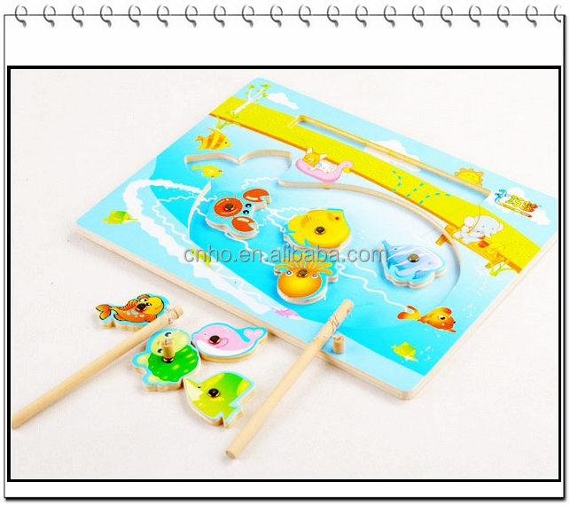 2015 customized popular kids toys magnetic fishing game