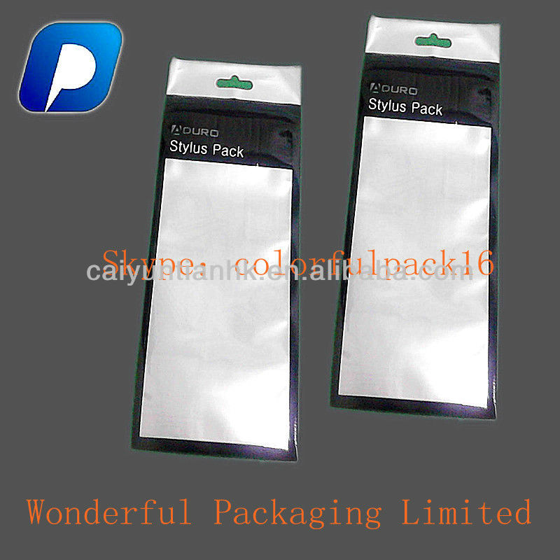 wellsold stylus pack transparent foil zipper bag with euro slot plastic packaging bag made in china alibaba cn