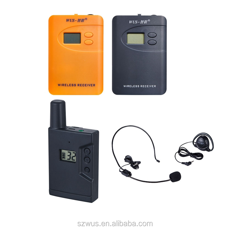 AAA battery ZLWUS800R Portable wireless tour guide system/radioguide/audio guides for visiting