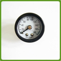 black steel bourdon tube pressure gauge for fire extinguisher