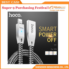 hoco Reflective Braid Charge Data Cable smart power off Charger Wire for iPhone6