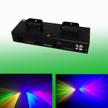 Quad 800mW Red Green Yellow Blue DMX Dj laser lighting party disco stage lights