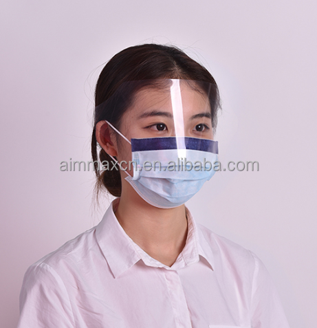 Disposable Face Shield with Mask Designed for Enhanced Air Circulation