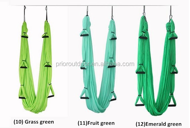 NEW! Upgraded Stretch silked aerial yoga swing 6 handles full set Antigravity Yoga hammock for sale wholesale & custom factory