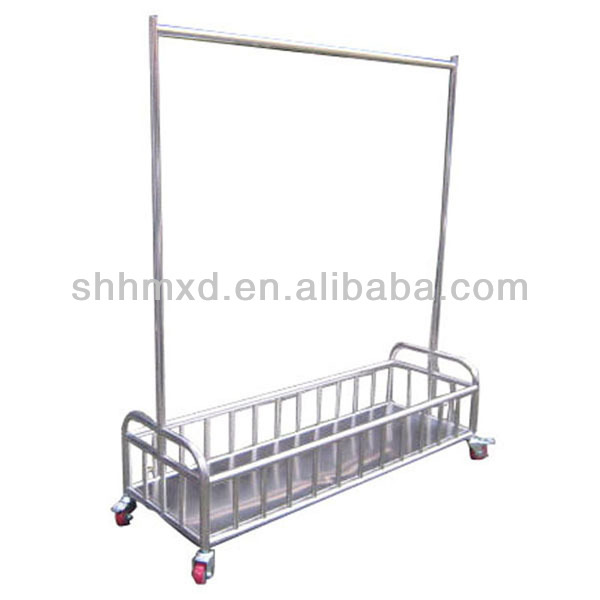 Stainless steel clothes trolley
