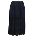 wholesale fashion ladies print long short pleated skirt