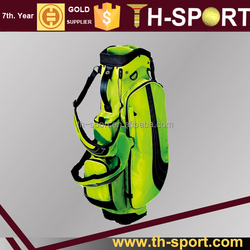 Portable Fluorescent green OEM golf staff bag
