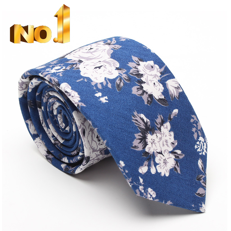 wholesale men 100% cotton floral slim <strong>tie</strong>