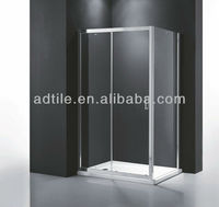 big profile framed glass sliding half shower doors