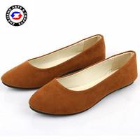 2015 wholesale fashion cheap solid color pu flat shoe vendors for unisex