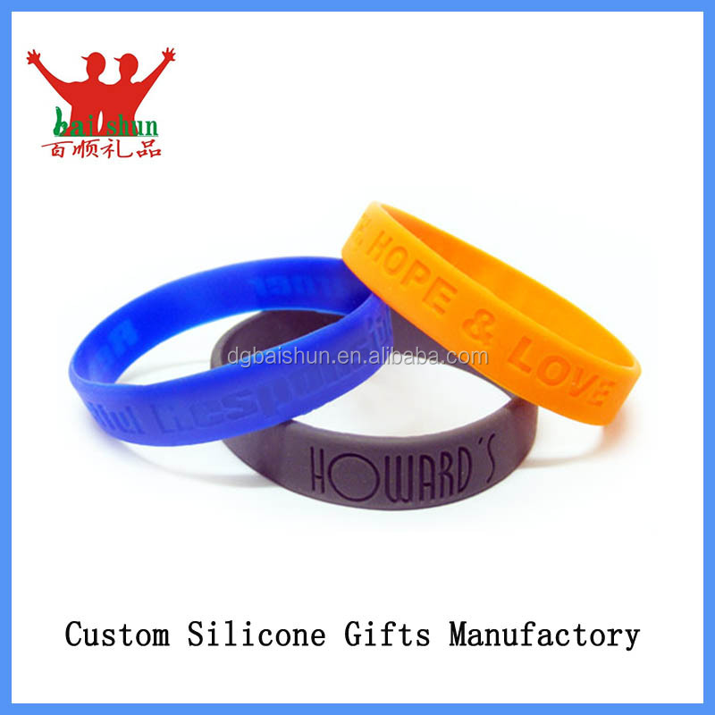 Silicone bangle use for promotional gifts bangles for leg